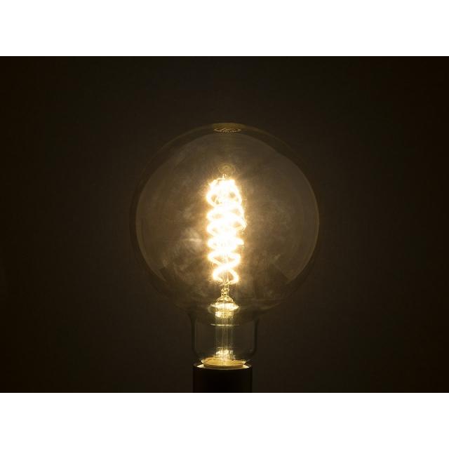 Лампа св/диод. ECOWATT Loft G125 DS 4W 2700K E27 двойная спираль теплый белый свет шар янтарный