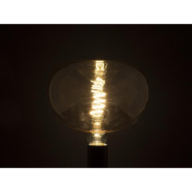 Лампа светодиодная ECOWATT Loft A210 4W 2700K E27 теплый белый свет колба в форме яблока янтарная