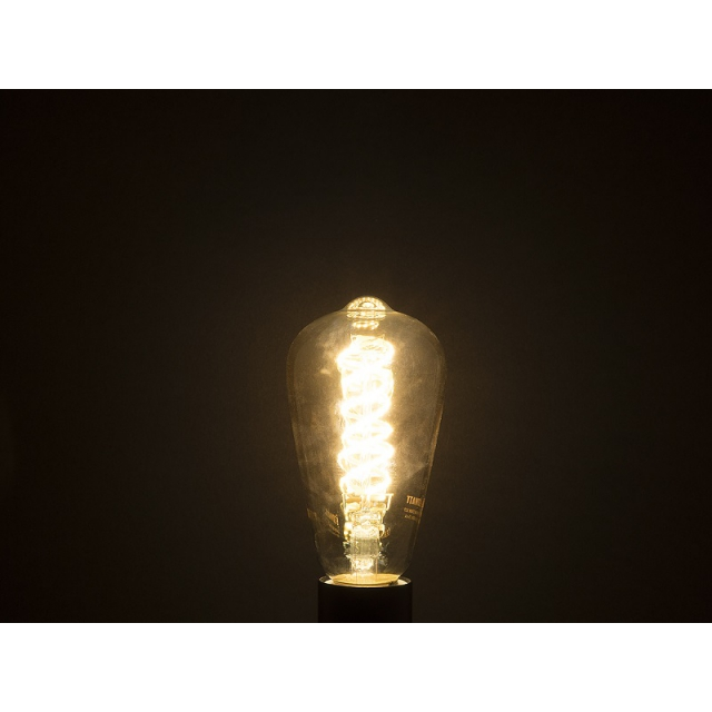 Лампа св/диод. ECOWATT Loft ST64 DS 4W 2700K E27 двойная спираль теплый белый свет янтарная