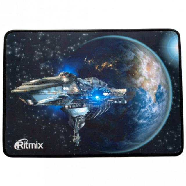 Мышь проводная RITMIX ROM-366MP Black 2400dpi, USB, металл/пластик+коврик в комплекте