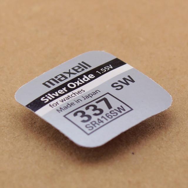 Батарейка оксид-серебряная Maxell SR416 SW (337)