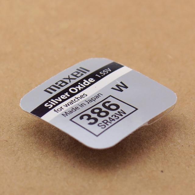 Батарейка оксид-серебряная Maxell SR43 W (386, SR1142 W, G12) для часов