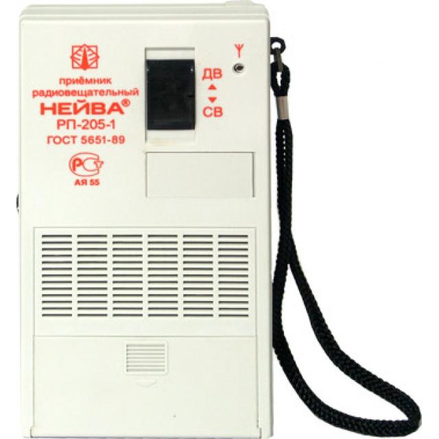 Радиоприемник НЕЙВА РП-205-1 ДВ/СВ, карманный, 4хАА/6В от б.п. (не в компл.)