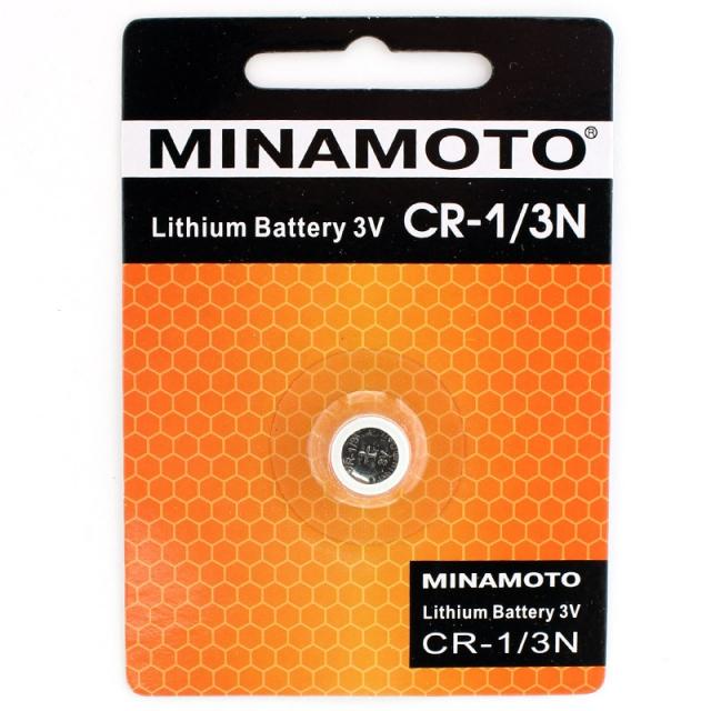 Батарейка литиевая MINAMOTO CR1/3N (CR11108, DL1/3N, 2L76) 3В бл/1